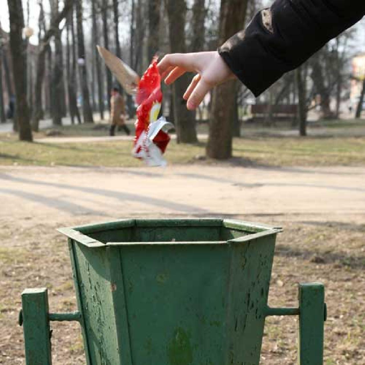Как сделать мусор на фото